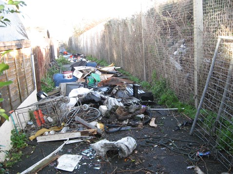 More fly-tipped rubbish in Harwich