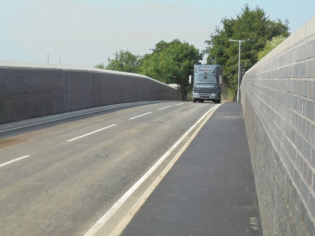 Road bridge reopens early after Network Rail complete £4million upgrade in Bedford: First vehicle over newly reopened Ford End Road bridge 26 July 2018