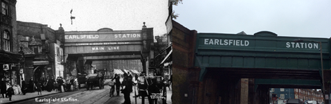 Earlsfield station- old and new