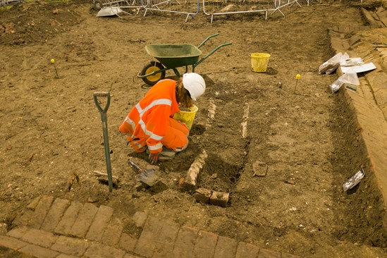 Archeologists excavating a medieval church and burial ground in Stoke Mandeville: The remains of a medieval church in Stoke Mandeville are being excavated by archaeologists working on the HS2 project.  Tags: Archaeology, St Mary's, Stoke Mandeville