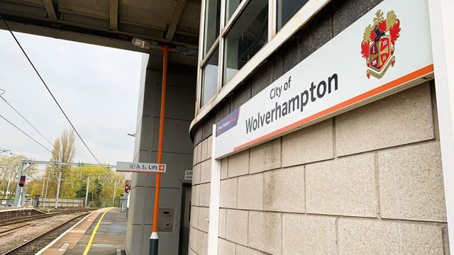Wolverhampton rail station sign
