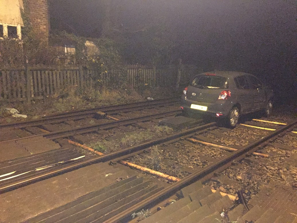 West Sussex motorists and rail passengers invited to share their views on level crossing upgrade: Yapton - driver ends up on railway