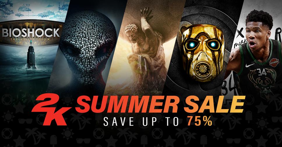 Massive 2K Discounts on Borderlands, Sid Meier's Civilization VI, NBA 2K19, XCOM 2 and More: 2K Summer Sale 2019