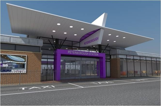 Gateway to the city: This is how Peterborough's new station entrance will look following an investment of £2.5m by Network Rail and East Coast. Work is due to start in summer 2010 and complete by the end of the year.