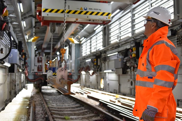 Network Rail chief executive Mark Carne on a recent visit to the MMT