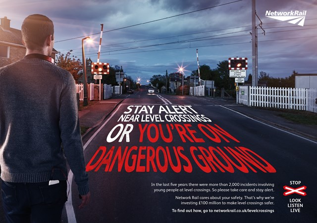 Student level crossing safety awareness poster - 2015