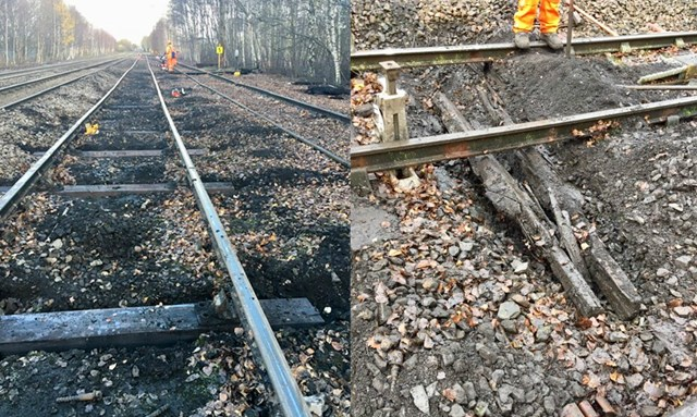 Railway upgrade to improve freight and passenger travel between North and South: Northwich loop track montage December 2018