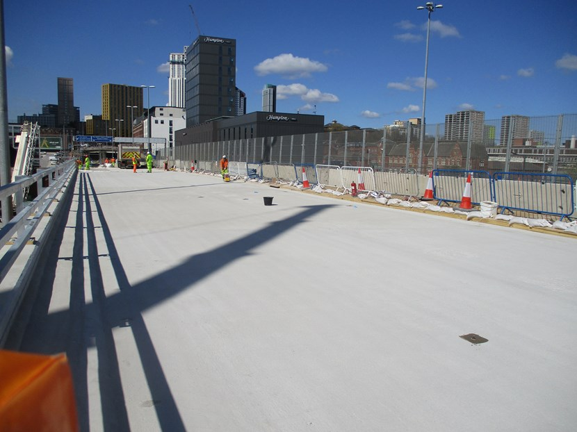 Regent Street Flyover essential maintenance project: work to commence on northern bridge section as southern bridge almost complete: IMG 1281