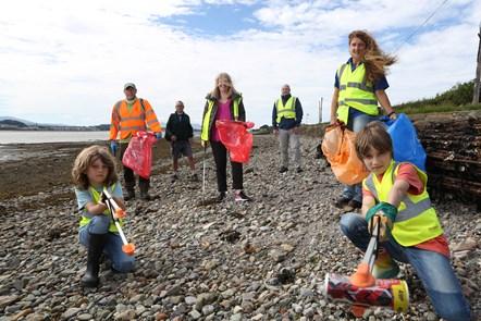 Beach clean group