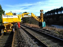 Chase line electrification piling work for foundations