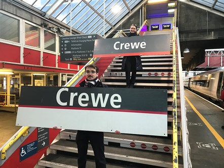 Crewe Station Signs - RailAid Auction