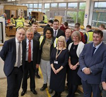 Science Minister Richard Lochhead joined College Principal Jackie Galbraith