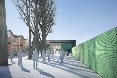 New West Hampstead Thameslink station and public space