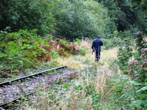 Trespasser on the GCG branch line