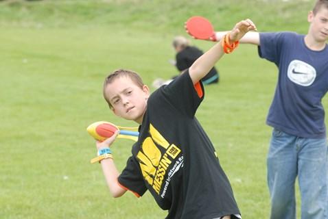 Boy enjoying sport activity at Network Rail's No Messin' event