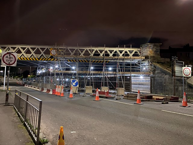 Merrylee Road rail bridge refurbishment underway: Merrylee Road bridge