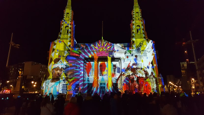 Tens of thousands flock to see city transformed as Light Night Leeds returns: 20171005-213940.jpg