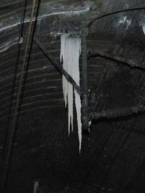 Kilsby tunnel icicles causing havoc