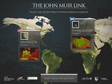 John Muir app - opening page