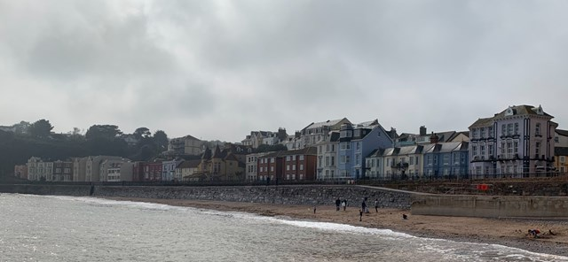 Dawlish sea wall image