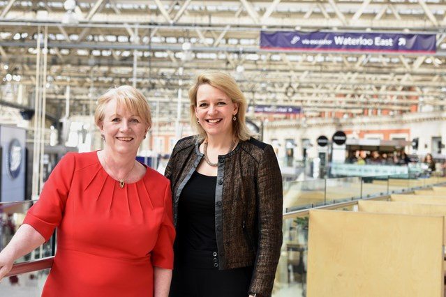 Network Rail and Stagecoach lead the way on International Women's Day with female route leaders: Margaret Kay and Becky Lumlock (2)