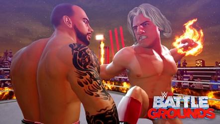 WWE 2K BG RICOCHET VS RIC FLAIR