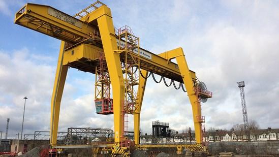 Willesden's landmark yellow cranes make way for new HS2 Rail Logistics Hub: HS2 190125 WETcraneD 0392