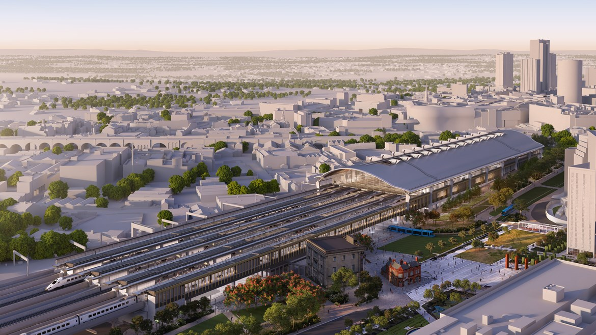 Manchester's P.P O'Connor Group helps to build HS2's new Birmingham station: HS2's Curzon Street Station in Birmingham