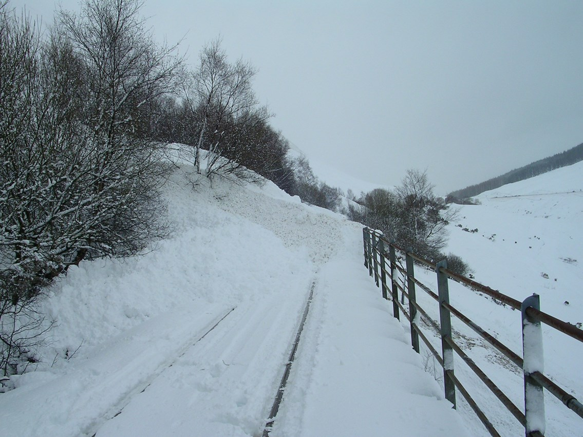 Snow covered railway (1): winter weather