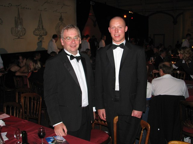Young Railway Person of the Year 2006: Greg Lunn, territory maintenance director, with Christopher Jackson, Young Railway Person of the Year 2006.