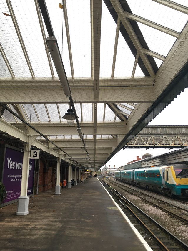 First phase of upgrade work to Shrewsbury station completed: Shrewsbury station upgrade-Platform 3