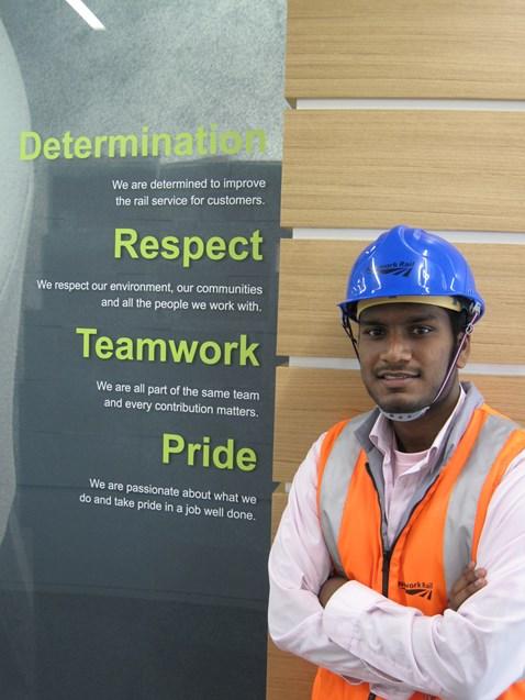 Prakash Navaratnarajah, Network Rail's 1000th apprentice