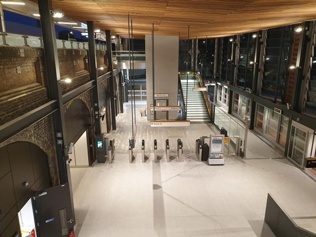 Inside new look White Hart Lane station