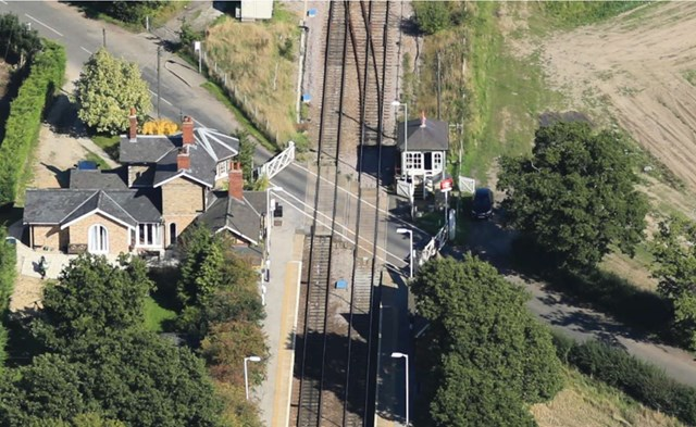 Network Rail holds information events ahead of major resignalling project between Newark and Lincoln: Swinderby Station level crossing