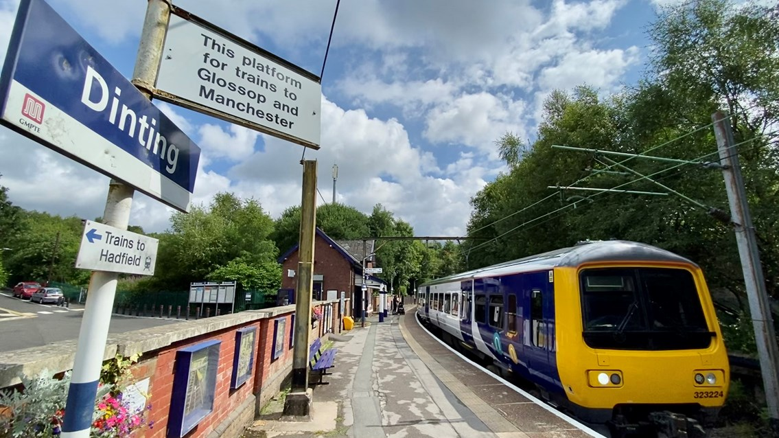 Rail improvements for Manchester to Glossop line passengers: Northern service at Dinting station