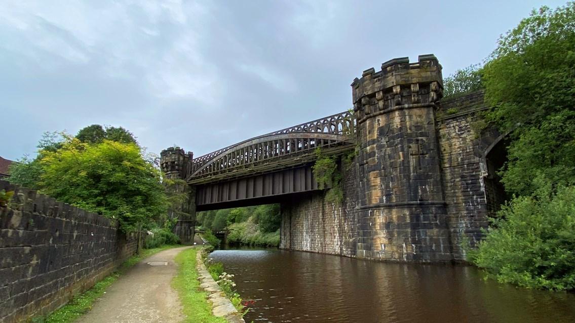 George Stephenson designed railway viaduct to be restored in Calderdale: Gauxholme Viaduct 4 August 2020-2