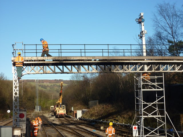 Falsgrave gantry is re-sited at Grosmont by NYMR volunteers courtesy of Philip Benham