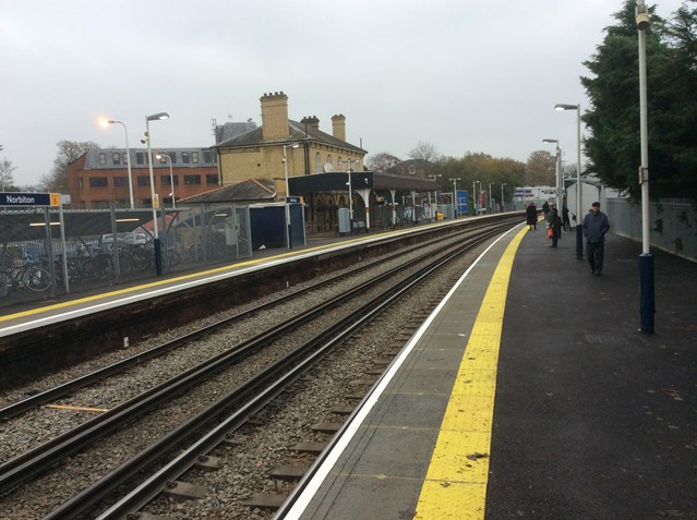 Easier access for passengers as work to fix 'Norbiton Gap' is completed: Norbiton and the new platform work