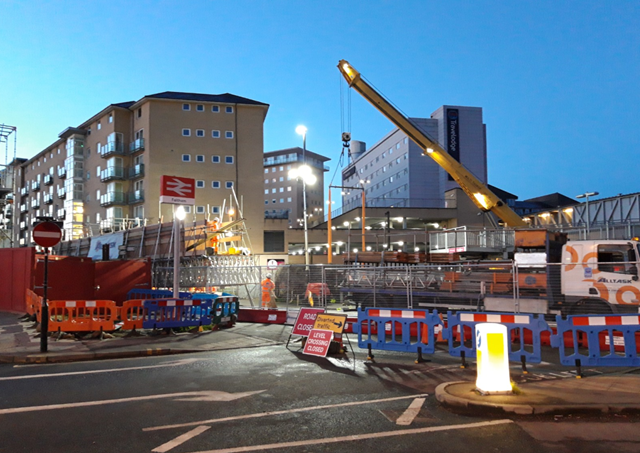 Passengers reminded to plan ahead over the Bank Holiday weekend as vital work takes place to improve railway in South West London and Surrey: Feltham station