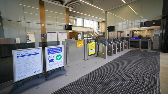 West Ealing station ticket gates