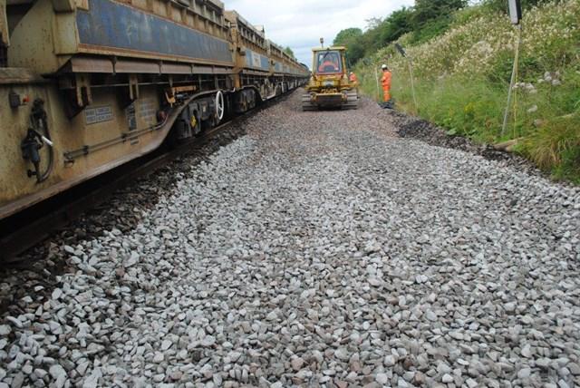 Infrastructure upgrades for Kilmarnock-Dumfries line: Track renewal Kilmarnock line 2019