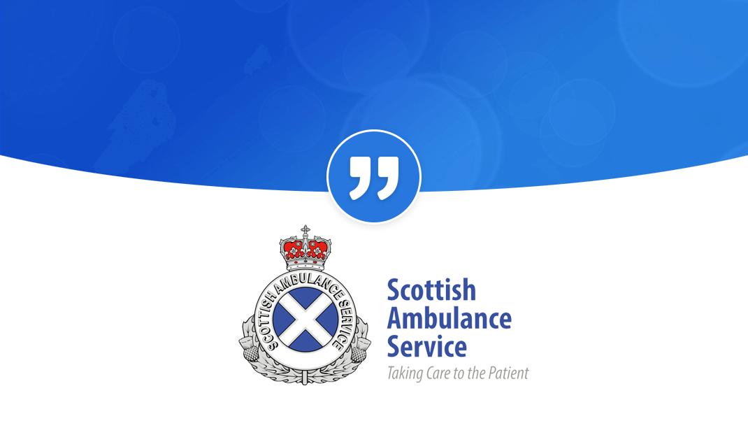 "Scottish Ambulance Service ""PRgloois a fantastic piece of kit"": ScottishAmbulanceQuote"