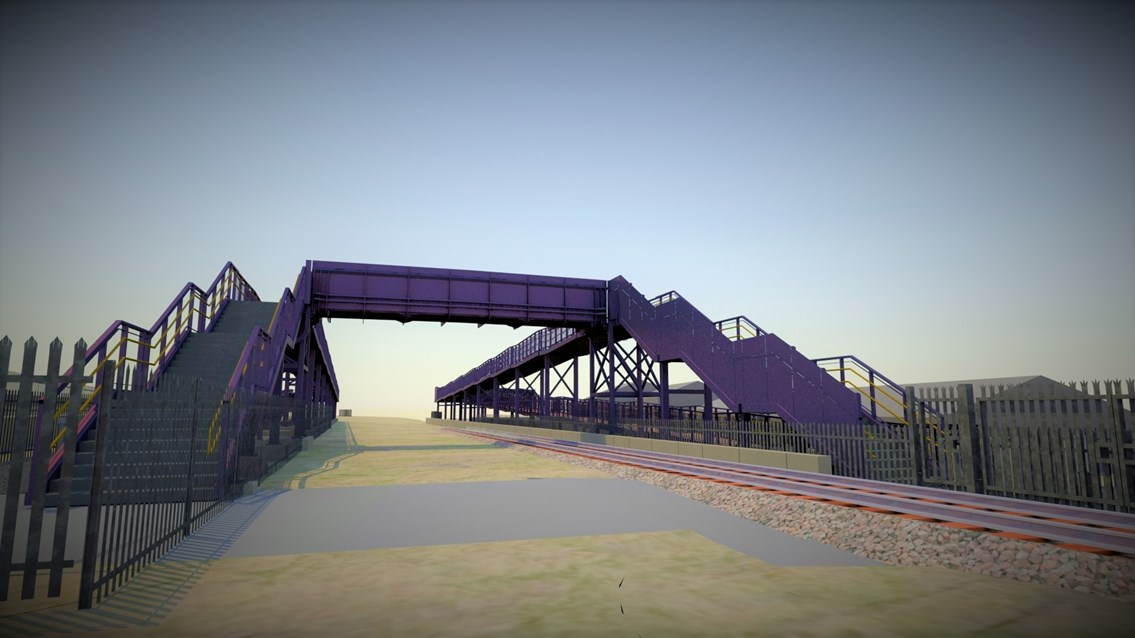 Network Rail begins work on new accessible footbridge at Suggitt's Lane: Plans for new accessible footbridge at Suggitt's Lane, Cleethorpes