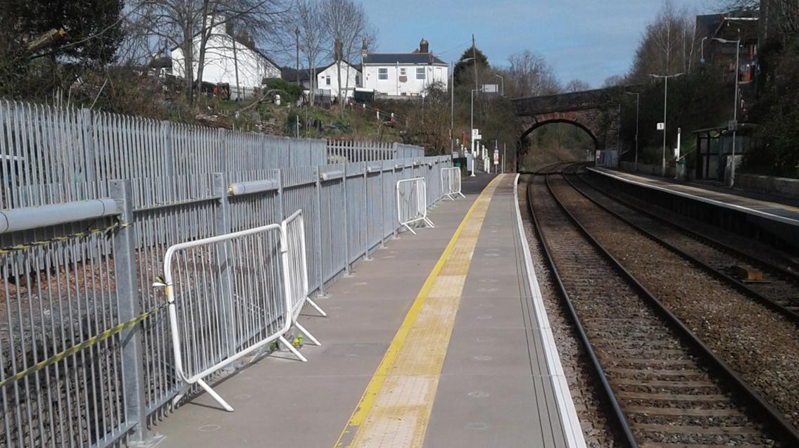 Better train access following platform upgrades at St James Park station: St James station platform extension web