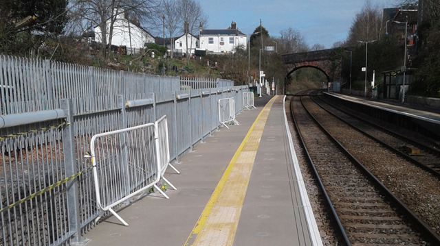 Better train access following platform upgrades at St James Park station: St James station platform extension web
