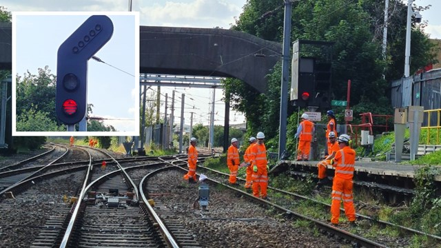 Key Manchester rail route gets 21st century signalling upgrade: New signals being installed as part of Trafford Park upgrade composite (1)