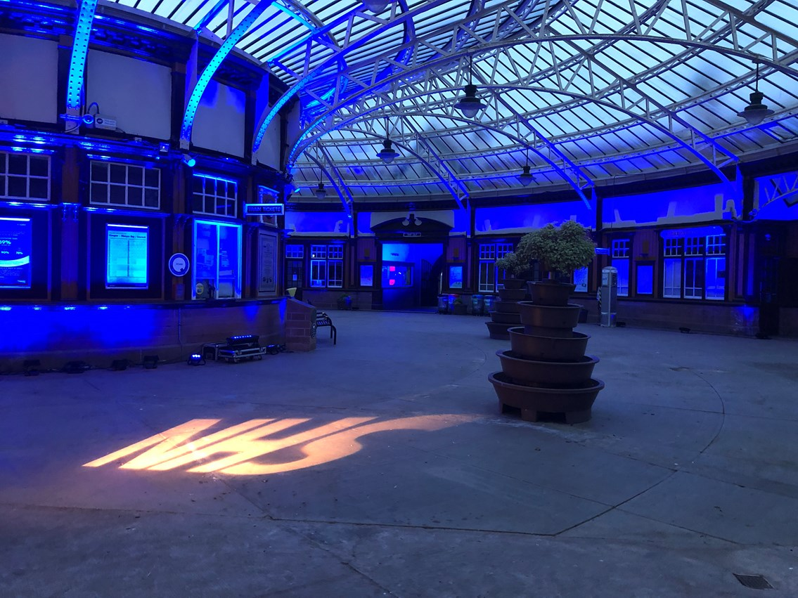 Iconic Wemyss Bay station Lit It Blue for our NHS heroes: 20200521 203528020 iOS