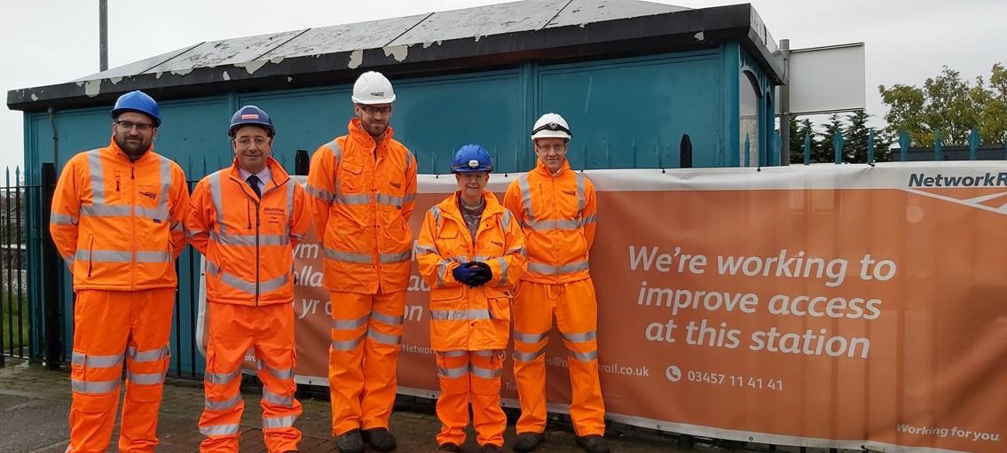Vale of Glamorgan AM visits Cadoxton station during major upgrade: Cadoxton AFA AM visit banner