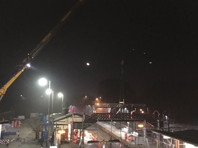 St Austell footbridge removal