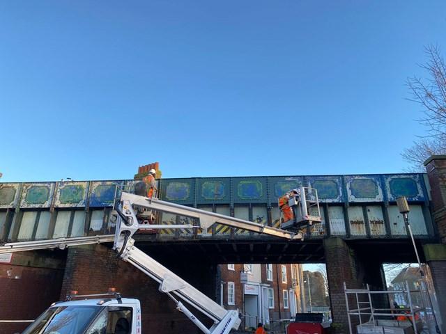 Wincheap Bridge Graffiti Removal (1)
